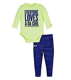 Under Armour® Baby Girls' Everyone Loves A UA Girl Bodysuit Set