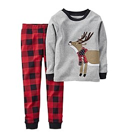 Carter's® Boys' 12M-8 Two-Piece Ronnie The Reindeer Pjs