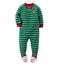 Carter's® Boys' 12M-4T Silly Santa Striped Sleeper