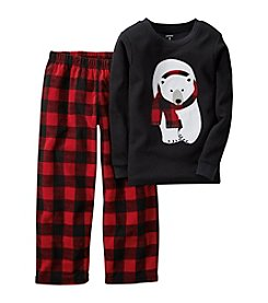 Carter's® Boys' 12M-12 Presumably Plaid Polar Bear Pjs