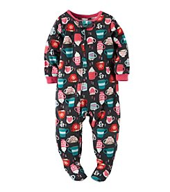 Carter's® Girls' 12M-4T Topped With Marshmallows Hot Cocoa Printed Sleeper