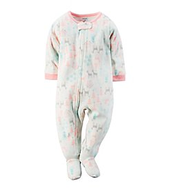 Carter's Girls' 12M-4T Dainty Deer Winter Scene Print Sleeper
