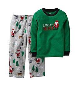 Carter's® Boys' 4-8 2-Piece Santas Helper Pjs