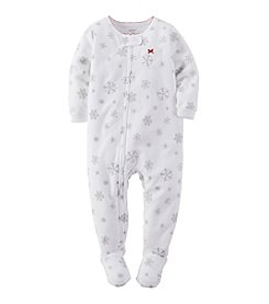 Carter's® Girls' 12M-4T Simply Snowflake Sleeper