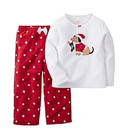 Carter's® Girls' 12M-14 Two-Piece Puppy Stocking Pjs