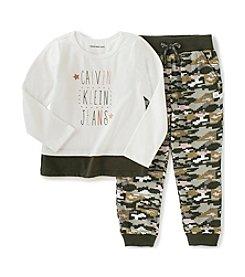 Calvin Klein Girls' 4-6X Digi Camo Jogger Set