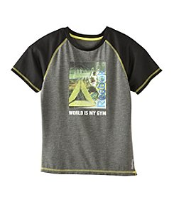 Reebok® Boys' 8-20 Short Sleeve World Is My Gym Tee