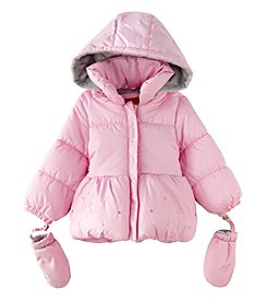 London Fog® Baby Girls' Solid Poly Filled Puffer Jacket