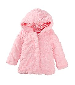 London Fog® Baby Girls' Fuzzy Solid Jacket