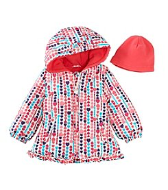 London Fog® Baby Girls' Light Heart Print Jacket