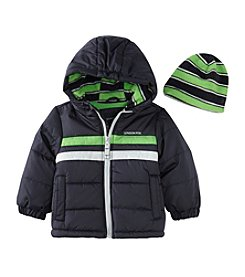 London Fog® Baby Boys Striped Chest Jacket