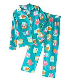 Komar Kids® Girls' 4-16 Owl About That Hoot Coat Front Pjs