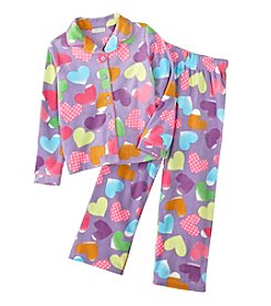 Komar Kids® Girls' Patchwork Hearts Coat Front Pjs