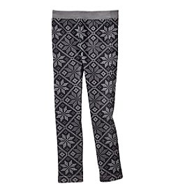 Miss Attitude Girls' 4-16 Snowflake Print Leggings