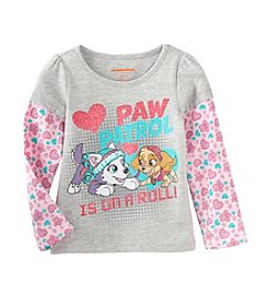 Nickelodeon® Girls' 2T-4T Paw Patrol Is On A Roll Layered Top
