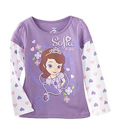 Disney® Girls' 4-6X Sofia The First® Heart Layered Top