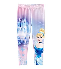 Disney® Girls' 2T-6X Cinderella Castle Print Leggings