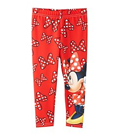Disney® Girls' 2T-6X Minnie Mouse® Bow Print Leggings