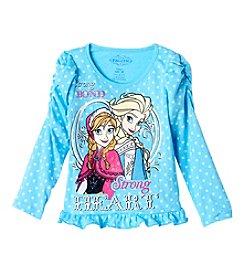 Nannette® Girls' 2T-6X Frozen Strong Bond Strong Heart Graphic Tee