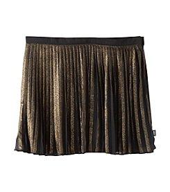 DKNY® Girls' 7-16 Metallic Coated Striped Skirt