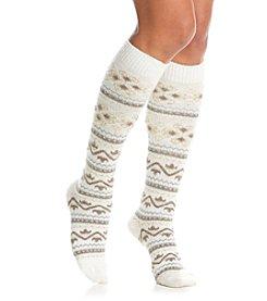 HUE® Fair Isle Knee Socks