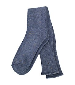 HUE® Cuffed Tweed Knee Socks
