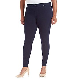 HUE® Plus Size Super Smooth Denim Leggings