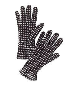 Cejon® Houndstooth Velvet Gloves