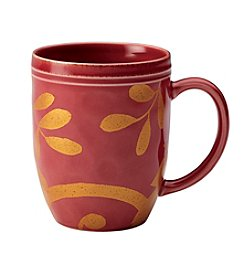 Rachael Ray® Gold Scroll Cranberry Red Mug