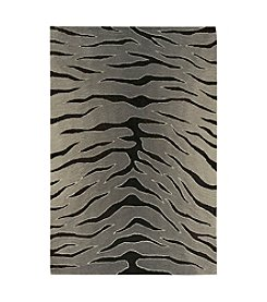 Nourison Contour Black Grey Area Rug
