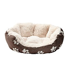 John Bartlett Pet Paw Small Round Cuddler Pet Bed