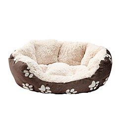 John Bartlett Pet Paw Small Round Cuddler Pet Bed