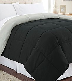 Sanctuary Solid Reversible Down-Alternative Comforter