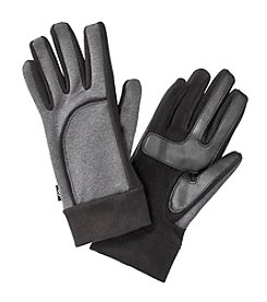 Isotoner Signature® Smartouch Heathered Softshell Gloves with Fleece Cuff