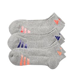 adidas® 3-Pk. ClimaLite Variegated Low-Cut Socks