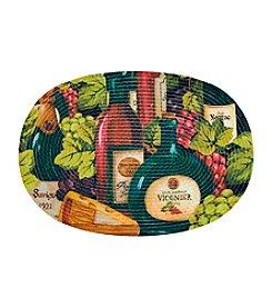 Achim Chardonnay Wine & Cheese Braided Rug