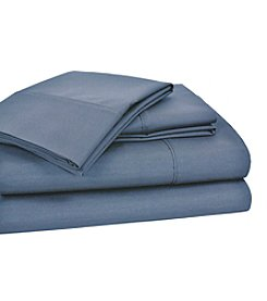 Elite Home Products Home Styles Solid 250-Thread Count Cotton Rich Sheet Set