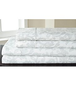 Elite Home Products Home Styles Damask 250-Thread Count Cotton Rich Sheet Set