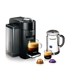 Nespresso Deluxe Coffee & Espresso Maker & Aeroccino Plus Milk Frother