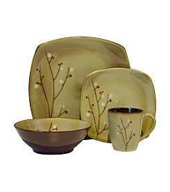 Sango Blossom Brown 16-pc. Dinnerware Set