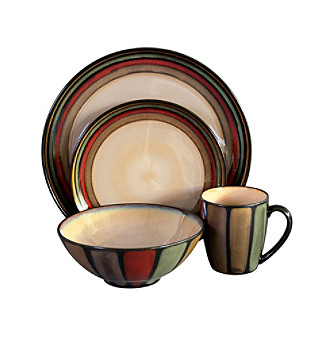 flair black dinnerware set
