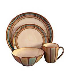 Sango Flair Brown 16-pc. Dinnerware Set