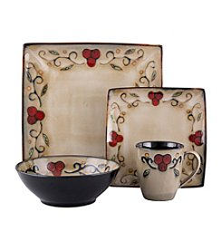 Sango Jubilee Black 16-pc. Dinnerware Set