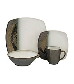 Sango Metallics Black 16-pc. Dinnerware Set