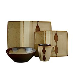 Sango Prelude Brown 16-pc. Dinnerware Set