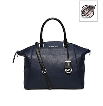 5324a3aa1658 ... UPC 889154513242 product image for MICHAEL Michael Kors® Riley Large  Pebbled-Leather Satchel ...