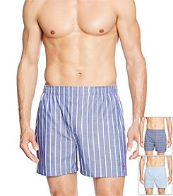 Polo Ralph Lauren® Men's 3-Pack Woven Madison Street Boxer