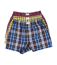 Tommy Hilfiger® Men's 3-Pack Woven Plaid Boxers