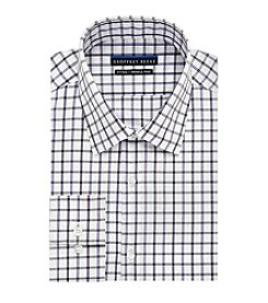 Geoffrey Beene® Men's Fitted Checkered Spread Collar Dress Shirt