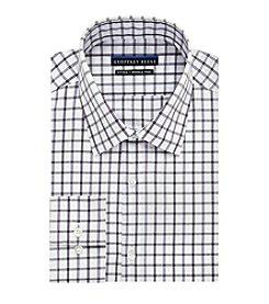 Geoffrey Beene® Men's Fitted Checkered Spread Collar Dress Shirt